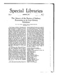 Special Libraries, January 1917 by Special Libraries Association