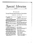 Special Libraries, May 1917 by Special Libraries Association