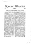 Special Libraries, June 1917 by Special Libraries Association