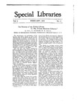 Special Libraries, February 1918 by Special Libraries Association