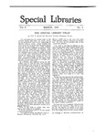 Special Libraries, March 1918 by Special Libraries Association