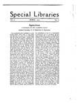 Special Libraries, March 1919 by Special Libraries Association