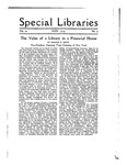 Special Libraries, June 1919 by Special Libraries Association