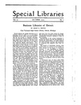 Special Libraries, October 1919 by Special Libraries Association