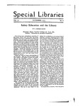 Special Libraries, November 1919 by Special Libraries Association