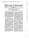 Special Libraries, December 1919 by Special Libraries Association