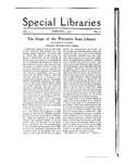 Special Libraries, February 1920 by Special Libraries Association