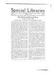 Special Libraries, April 1920 by Special Libraries Association
