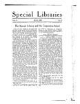 Special Libraries, May 1920 by Special Libraries Association