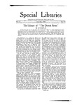 Special Libraries, September-October 1920 by Special Libraries Association
