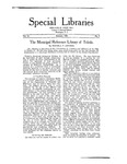 Special Libraries, January 1921
