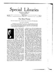 Special Libraries, March 1921 by Special Libraries Association