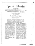 Special Libraries, May 1921 by Special Libraries Association