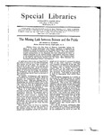 Special Libraries, September-October 1921