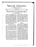 Special Libraries, December 1921 by Special Libraries Association