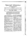 Special Libraries, January 1922