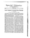 Special Libraries, February 1922 by Special Libraries Association