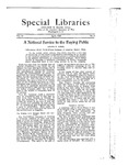 Special Libraries, April 1922 by Special Libraries Association
