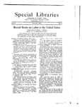 Special Libraries, November 1922 by Special Libraries Association