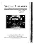 Special Libraries, November 1924 by Special Libraries Association