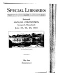 Special Libraries, April 1925