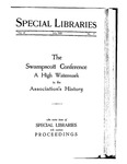 Special Libraries, July 1925 by Special Libraries Association