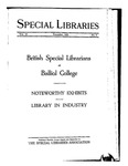 Special Libraries, November 1925 by Special Libraries Association