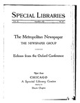 Special Libraries, December 1925 by Special Libraries Association