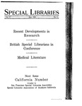 Special Libraries, May 1926