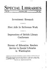 Special Libraries, December 1929 by Special Libraries Association