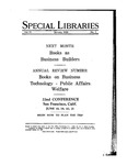 Special Libraries, January 1930