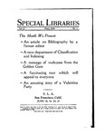 Special Libraries, March 1930