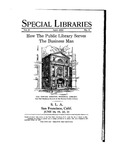 Special Libraries, April 1930