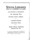 Special Libraries, July-August 1930