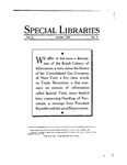 Special Libraries, October 1930