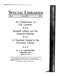 Special Libraries, January 1931 by Special Libraries Association