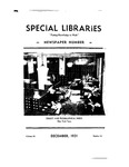 Special Libraries, December 1931 by Special Libraries Association