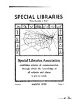 Special Libraries, March 1932