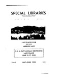 Special Libraries, May-June 1932 by Special Libraries Association
