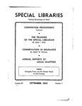 Special Libraries, September 1932 by Special Libraries Association