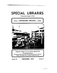 Special Libraries, December 1932 by Special Libraries Association
