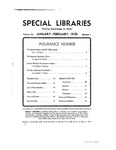 Special Libraries, January-February 1933