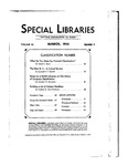 Special Libraries, March 1933