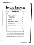 Special Libraries, September 1933 by Special Libraries Association