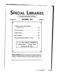 Special Libraries, October 1933 by Special Libraries Association