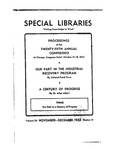 Special Libraries, November-December 1933 by Special Libraries Association