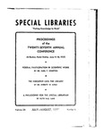 Special Libraries, July-August 1935 by Special Libraries Association