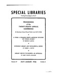 Special Libraries, July-August 1936 by Special Libraries Association