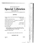 Special Libraries, January 1937 by Special Libraries Association