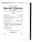 Special Libraries, September 1937